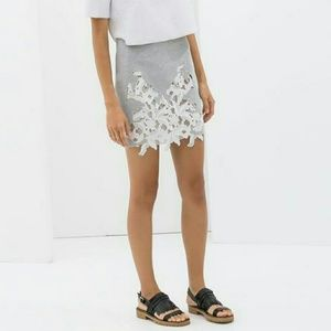 Zara skirt with lace front